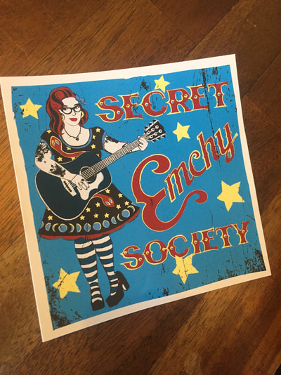 Rockabilly Secret Emchy Society Sticker